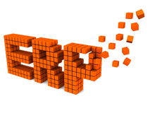 ERP. Enterprise resource planning or ERP system concept, letters ERP being built with orange blocks Royalty Free Stock Image
