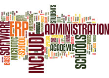 Erp Academic Base Word Cloud Concept Royalty Free Stock Photography