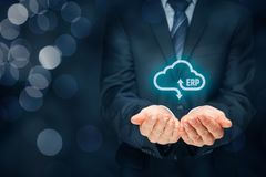 ERP as cloud service Royalty Free Stock Image