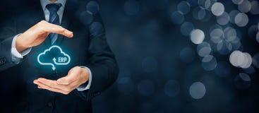 ERP como o serviço da nuvem Imagem de Stock Royalty Free