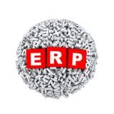 ERP de boule de sphère de caractère de lettre de l'alphabet 3d Photo libre de droits