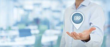 ERP de planification de ressource d'entreprise Photo stock