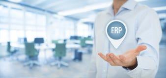 ERP de planification de ressource d'entreprise Photo libre de droits
