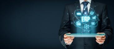ERP de planification de ressource d'entreprise image stock
