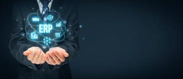 ERP de planification de ressource d'entreprise image libre de droits