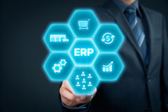ERP do planeamento do recurso da empresa foto de stock royalty free
