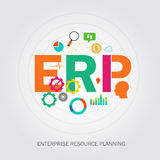 Erp enterprise reource planning Stock Images