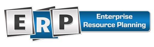 ERP - Enterprise Resource Planning Blue Grey Squares Bar Royalty Free Stock Image