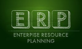 Erp, enterprise resource planning Royalty Free Stock Photography