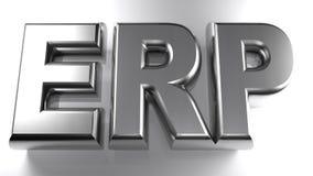 ERP - Enterprise Resource Planning - 3D rendering Royalty Free Stock Photo