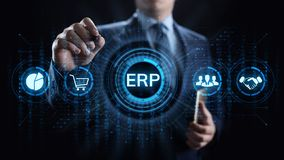 ERP Enterprise resources planning system software business technology. stock photography