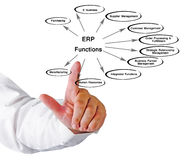 ERP Functions. Presenting diagram of ERP Functions Royalty Free Stock Images