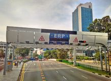 ERP gantry in Singapore Stock Photos