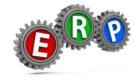 ERP gears Royalty Free Stock Image