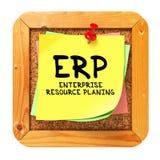ERP. Gele Sticker op Bulletin. Royalty-vrije Stock Afbeeldingen