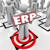 ERP Ondernemingsmiddel van het Bedrijfs planningsbedrijf Programma Softwa royalty-vrije illustratie