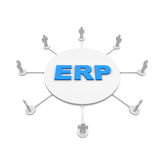 ERP. People around the erp text Royalty Free Stock Photography
