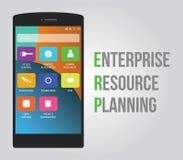 ERP - Planeamento do recurso da empresa Imagem de Stock