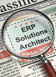 ERP Solutions Architect Join Our Team. 3D. Royalty Free Stock Images