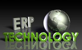 ERP Technology. System Abstract as a Concept Royalty Free Stock Photos