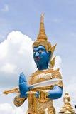 erpent thai stiltempel för konst Arkivfoton