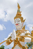 Erpent of Thai style art in thai temple Stock Image