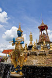 Erpent of Thai style art in thai temple. Temple in samuthsongkram of thailand stock image