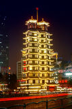 Erqi Memorial Tower night scene Stock Photo
