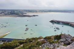 Erquy, une ville côtière en Bretagne, France Photos stock