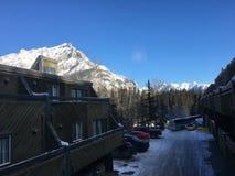Errant autour de Banff, Alberta, Calgary en hiver photographie stock libre de droits