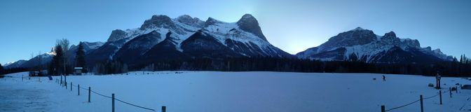 Errant autour de Banff, Alberta, Calgary en hiver images stock
