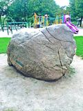 Erratic Boulder in Christie Pits Park, Toronto Stock Photos