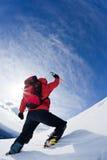 Erreichen des Gipfels Stockbilder