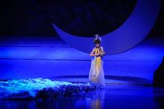 Errer sous la lune de ballet de lune-Hui au-dessus de Helan Photos stock