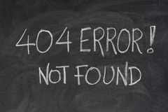 Erreur 404 d'Internet - fichier non trouvé Image stock