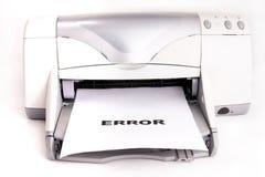 Erreur d'imprimante Photos stock