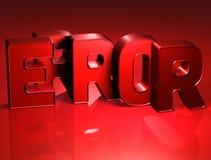 erreur de 3D Word sur le fond rouge Photos libres de droits