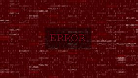 Erreur de données d'ordinateur illustration libre de droits