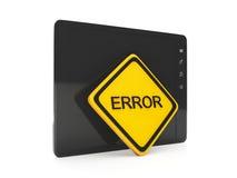 Erreur de logiciel Images libres de droits