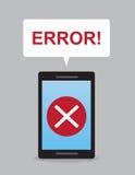 Erreur de téléphone Images stock