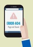 Erreur 404 de téléphone Images libres de droits