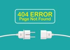 Erreur non trouvée de 404 pages Photographie stock libre de droits