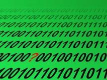 Erreur ou corruption dans le datastream Photos stock