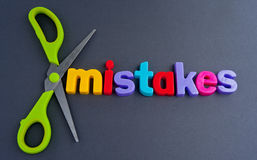 Erreurs coupées Photographie stock libre de droits