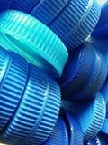Errichten der blauen Kappen Stockbild
