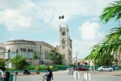 Errichten in der Hauptstadt der Insel von Barbados stockbilder