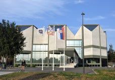 Errichten des Museums der zeitgen?ssischer Kunst in Belgrad lizenzfreie stockfotografie