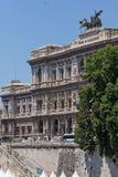 Errichten des Obersten Gerichts der Aufhebung und des Tiber-Flusses in der Stadt von Rom, Italien stockfoto