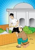 Errichten einer Moschee Stockbilder