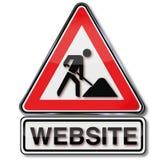 Errichten einer Website und im Bau Stockbild